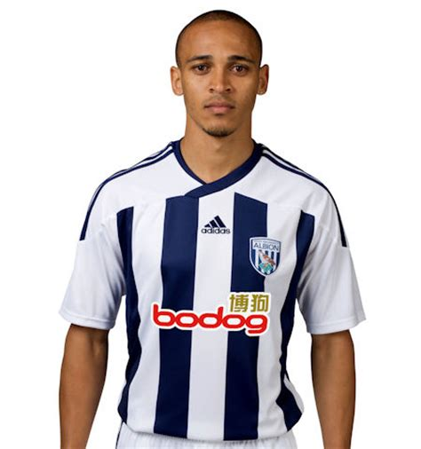 west bromwich albion home shirt for 2011 12 season: photo