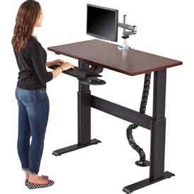 adjustable standing desks www globalindustrial ca