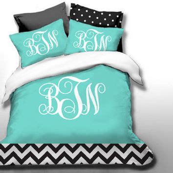 monogrammed comforter sets shop monogrammed chevron bedding on wanelo