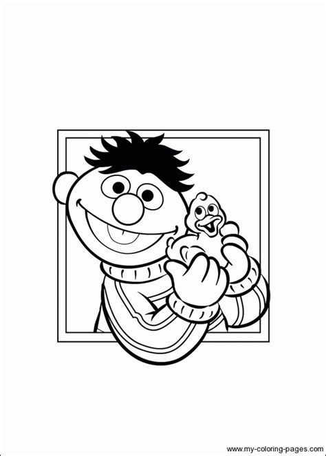 ernie bert coloring pages just for children