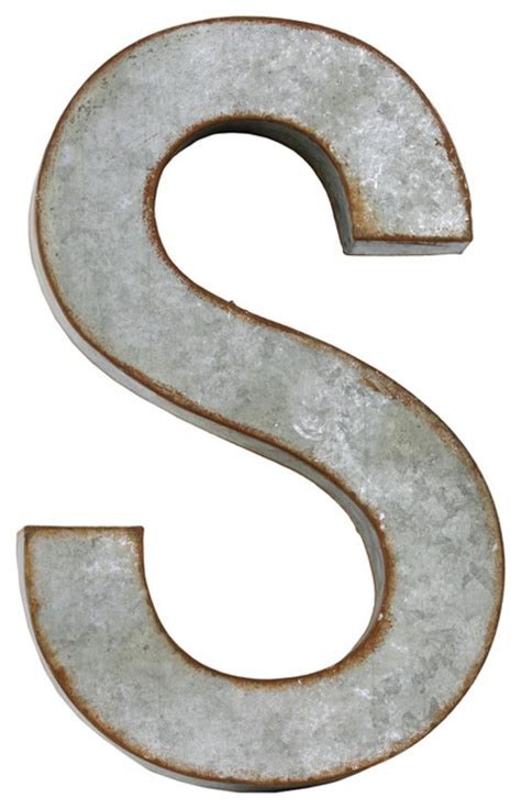 Metal Letter Quot S Quot Wall Decor Industrial Wall Letters Metal Wall Decor Letters