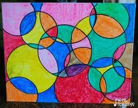 watercolor circle art mess for less