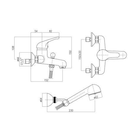 miscelatore per vasca da bagno miscelatore rubinetto gruppo vasca cromato made in italy