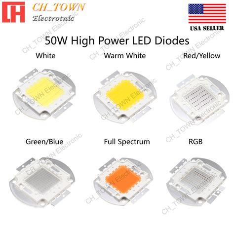 Led Hpl 5w Green 4 Chip high power 50w watts smd led chip l white blue green rgb uv light ebay