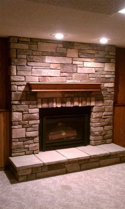 Country Fireplaces by Bucks County Country Ledgestone Gas Insert City