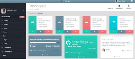 20 perfectly coded admin templates for developers