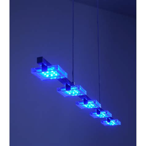 Colour Changing Ceiling Lights Daan Rgb Colour Changing Led Ceiling Pendant Bar Chrome Remote
