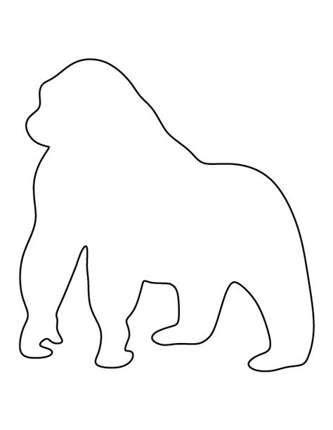 gorilla outline coloring page gorilla coloring pages