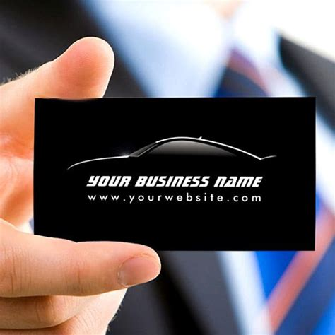 car radar business card template customizable cool car outline auto repair business card