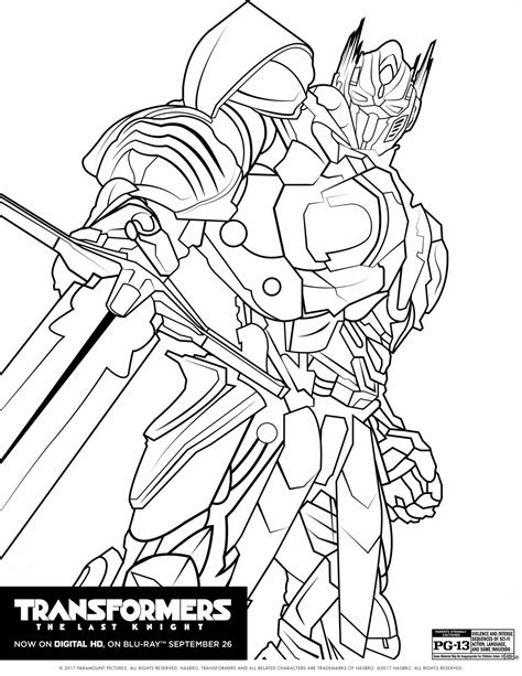 Transformers 5 Coloring Pages by Transformers The Last Coloring Pages The Review Wire