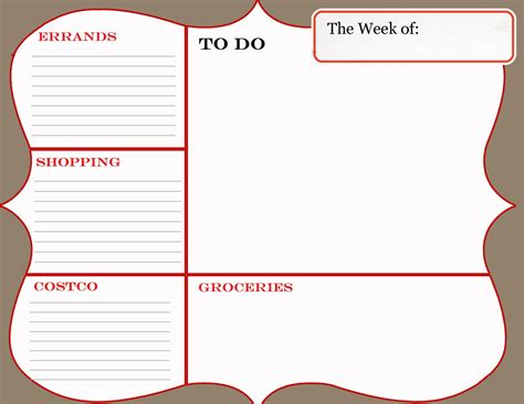 things to do template everyday clever august 2011