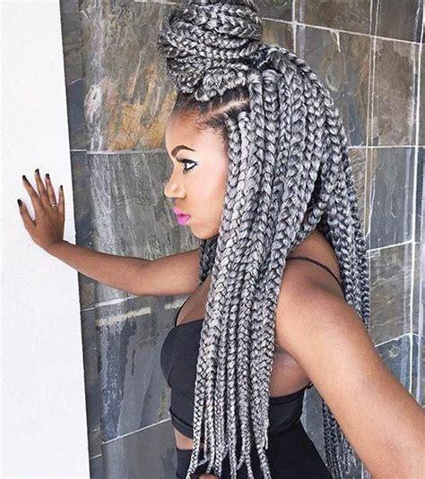 silver cornrow ponytail 41 chic crochet braid hairstyles for black hair crochet