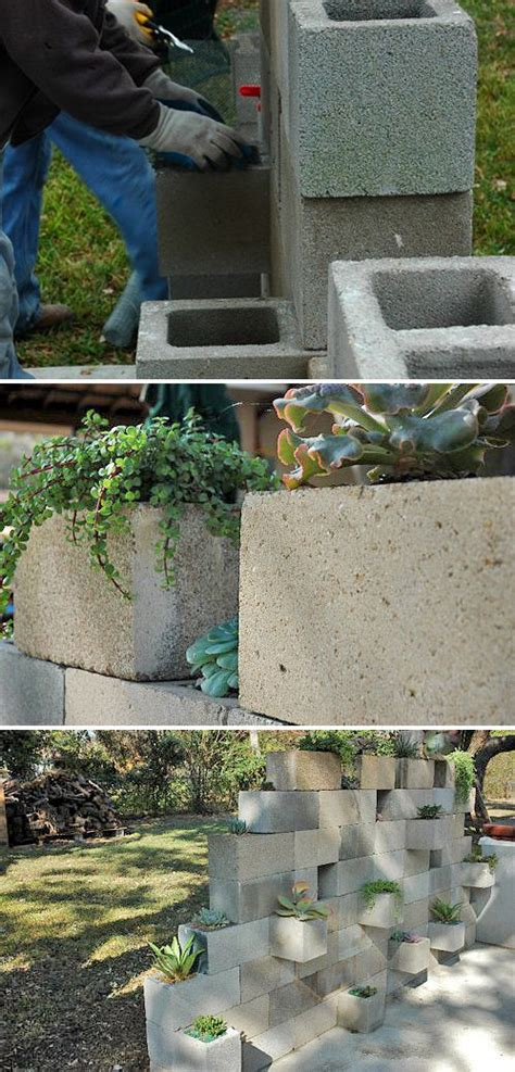 Cinder Block Garden Wall Cinder Blocks Creative Project Ideas And In The Garden On