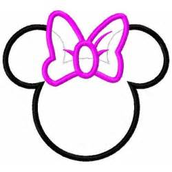 minnie mouse silhouette template free download clip art