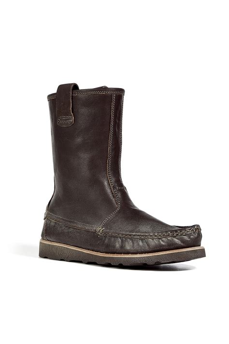 ndc brown moccasin nebraska boots in brown for lyst