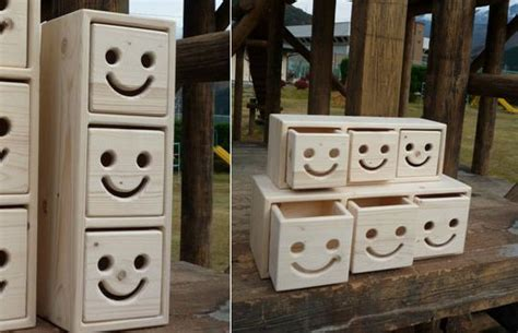 japan trend shop nicot wood drawers set