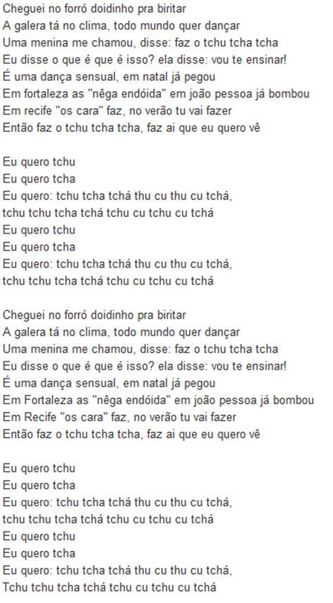 testi canzoni testo canzone eu quero tchu eu quero tcha di joao lucas e