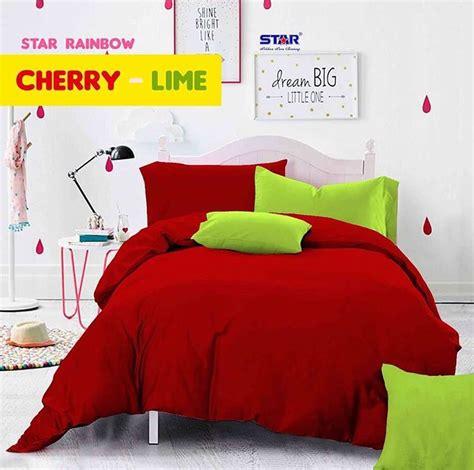 Harga Sprei Merk Cherry detail produk sprei dan bedcover cherry lime toko bunda