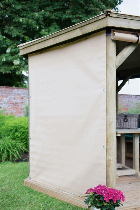 premium square wooden gazebo curtains cream