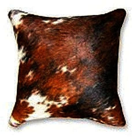Cow Skin Throw Tricolor Cowhide Decorative Throw Pillow