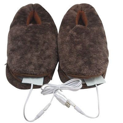 heated mens slippers s s shoes foot warmer usb heated plush slippers