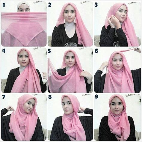 tutorial hijab simple dan gang 25 inspirasi tutorial hijab segi empat terbaru 2018