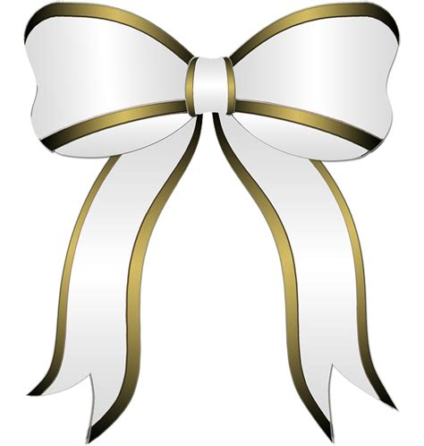 free illustration white bow gift party bow ribbon
