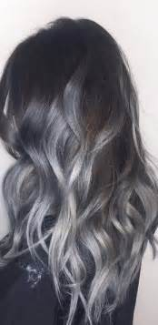 silver gray hair color before after silver balayage mane interest