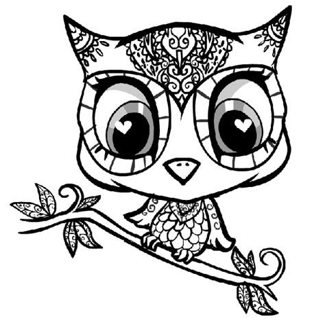 Great Grey Owl Color Page Printable Coloring Pages Of Owls