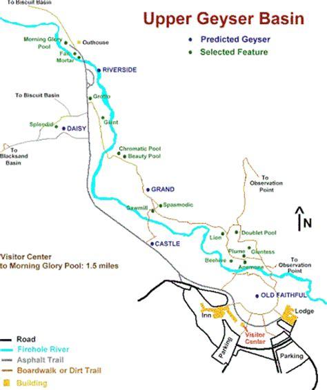 yellowstone geysers map basin yellowstone geysers