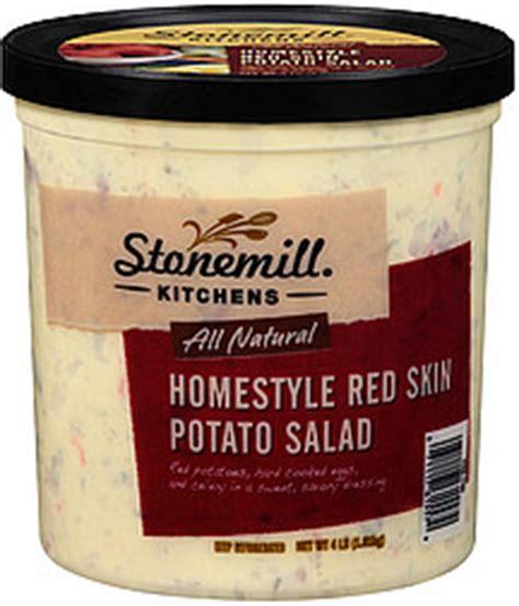Stonemill Kitchens stonemill kitchens potato salad all homestyle skin 4 0 lb nutrition information