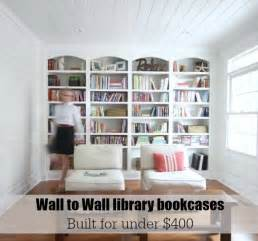 How To Make Wall Bookshelves Library Wall To Wall Bookcases Free Plans Sawdust 174