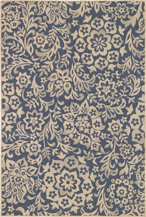 Contemporary Indoor Outdoor Rugs Sterling Jardin Blue Floral Indoor Outdoor Area Rug Contemporary Outdoor Rugs By Select Rugs