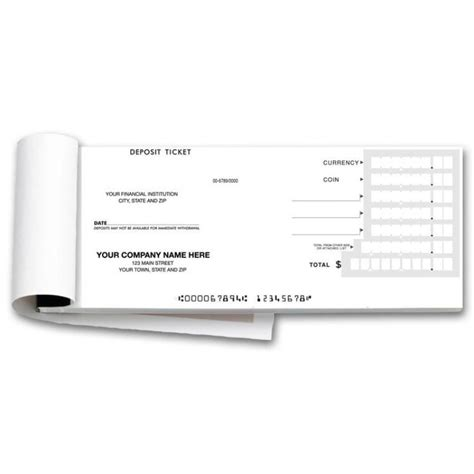 carbonless deposit ticket books quick scan custom 100050 booked deposit tickets quick entry 100050 at