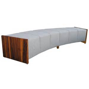 Furniture Upholstery Las Vegas Large Modern Curved Upholstered And Walnut Bench For Sale