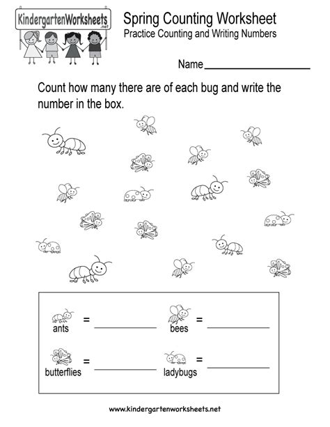 printable spring worksheets for preschoolers free printable counting worksheets new calendar template
