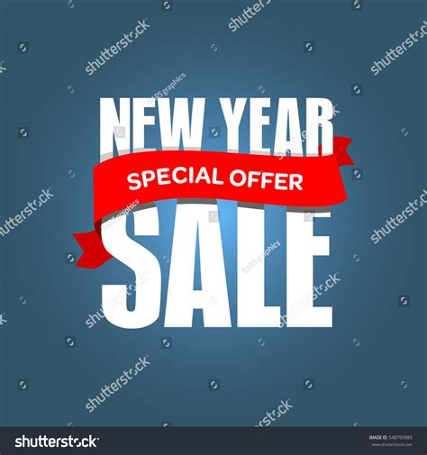 new year promotion banner new year sale badge label promo stock illustration