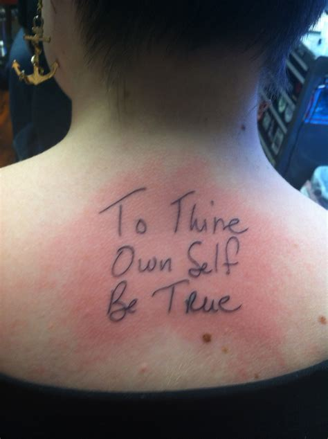 to thine own self be true tattoo the word made flesh