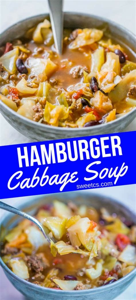Hamburger Detox Soup by One Pot Hamburger Cabbage Soup Recipe Cabbages