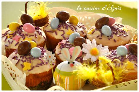 cuisine de paques cupcakes de p 226 ques la cuisine d agn 232 sla cuisine d agn 232 s