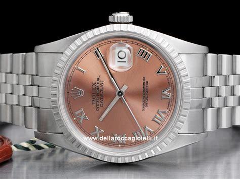 Rolex R 3628 rolex datejust 16220 jubilee quadrante rosa romani