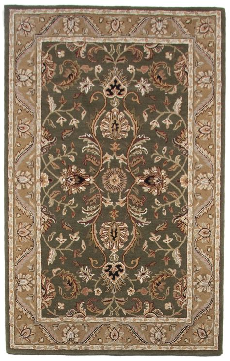 Beautiful Area Rugs Stunning Beautiful Traditional Tufted Wool Area Rug Brown Green 5x8