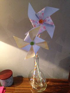 Handmade Windmill With Paper - paper windmill on a2 envelopes paper flower