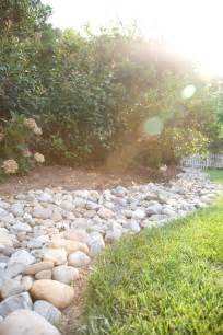 river rock for landscaping river rock border garden