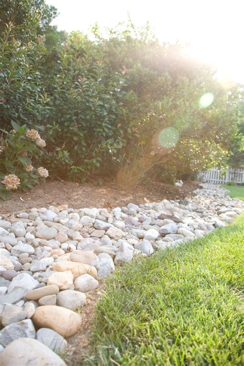 landscaping with river rock river rock border garden