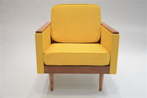 fabric for armchair square soviet armchair in yellow fabric for sale at pamono