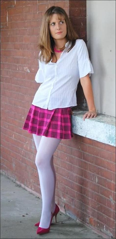 high school pantyhose why is this gurl upset did he get caught skipping class