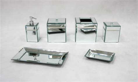 mirrored bathroom accessories sets mirror bathroom accessories mirrored bathroom accessories