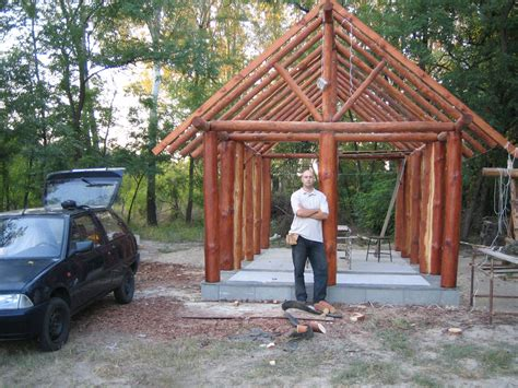 Telephone Pole Log Cabin by Hungarian Cordwood By Tamas Abel Cordwood Construction