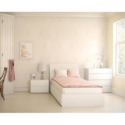 white lacquer bedroom set 4 piece bedroom set in white lacquer and melamine 400436 set